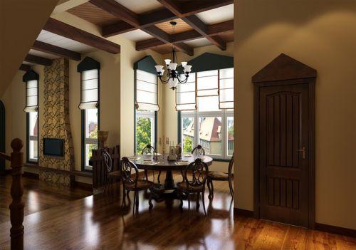 东南亚风别墅餐厅吊顶图片