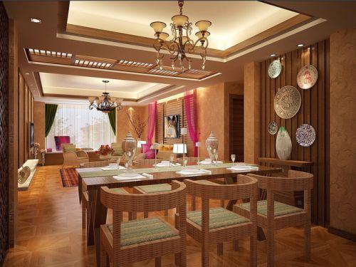 东南亚风格家居餐厅效果图片