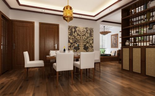 110平东南亚三居餐厅设计图片