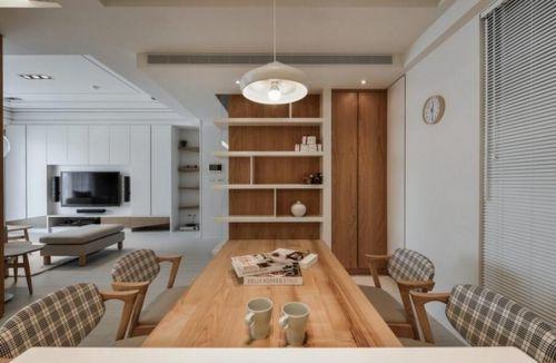 109平现代日式风格餐厅客厅设计