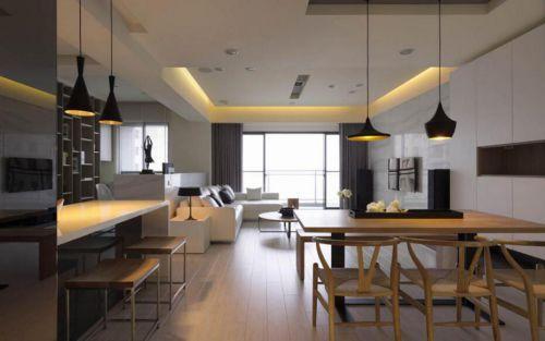 日式现代两居室设计餐厅效果图