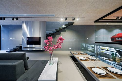 日式装修风格别墅餐厅设计图片