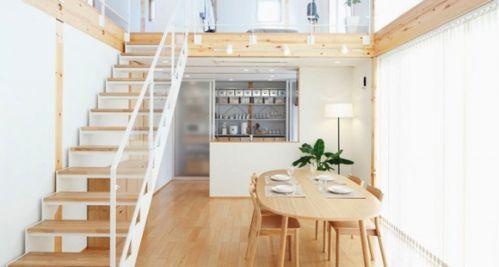 日式风格复式家居餐厅楼梯图片