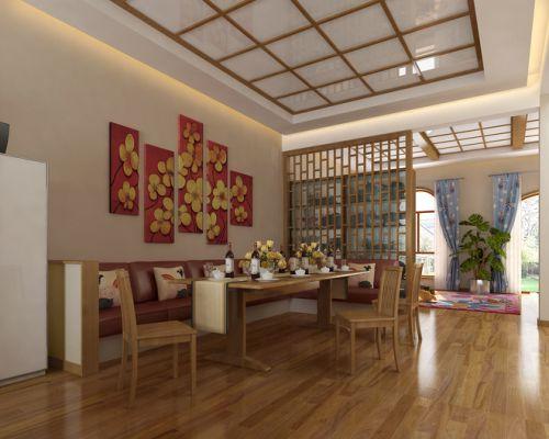 日式风格餐厅隔断效果图片