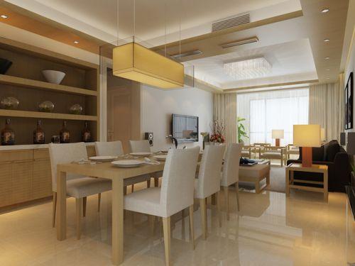 日式现代三居餐厅设计效果图