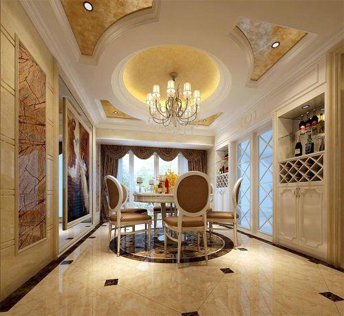 精美时尚简欧风格餐厅装饰设计