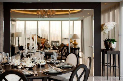 简欧风格三居室装修餐厅效果图