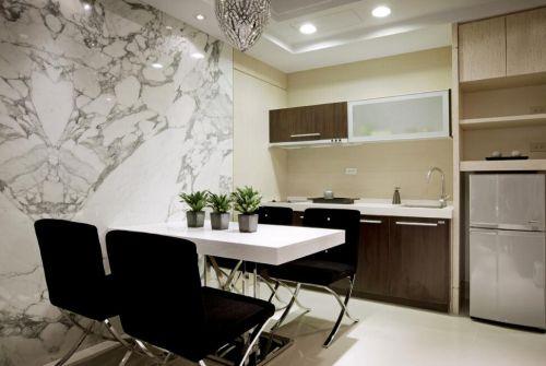 别墅现代简欧风格餐厅厨房设计