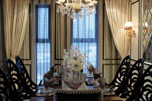 简约欧式风格餐厅窗帘装饰设计