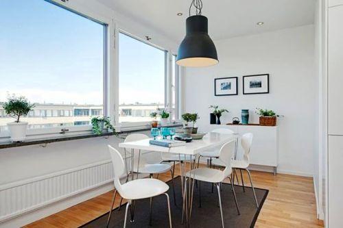 北欧风格翻新公寓餐厅图片