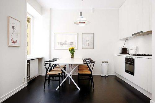 47平北欧风格公寓餐厅图片