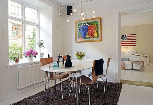 北欧风格复古公寓餐厅效果图欣赏