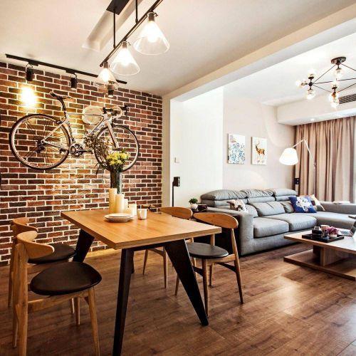 90平米北欧风格餐厅餐桌设计