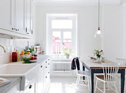 北欧风清新居室餐厅厨房装修效果图