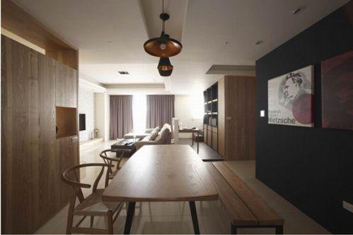 北欧风格实木餐厅效果图