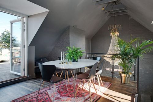北欧风餐厅吊顶设计图片