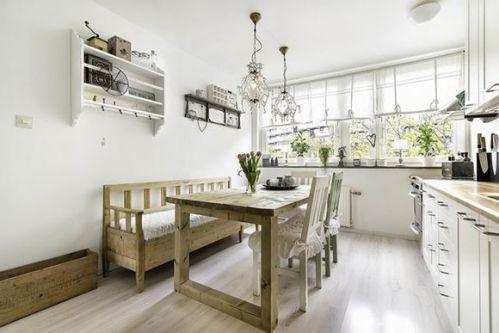 舒适北欧风格三居室餐厅餐桌设计