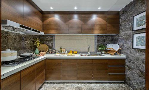 厨房整体橱柜装修效果图照片墙