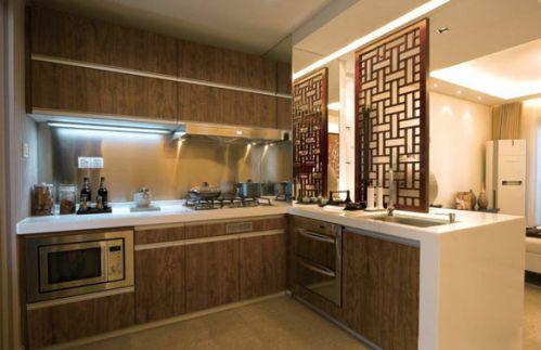朴实中式风格厨房隔断设计
