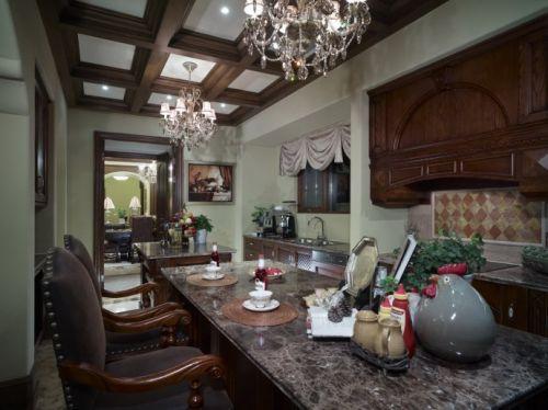 美式小户型厨房吊灯装修设计