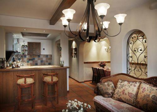 最新美式风格厨房吧台设计