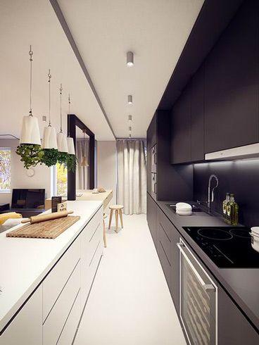 华沙公寓现代风格厨房过道图片
