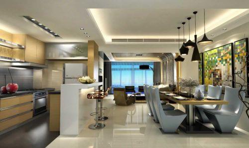 100平米温馨简约家装厨房隔断设计