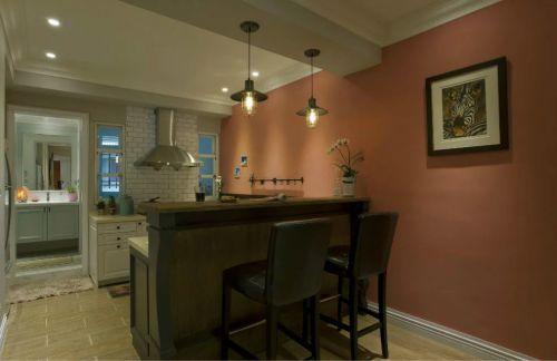 美式风格厨房吧台装修效果图