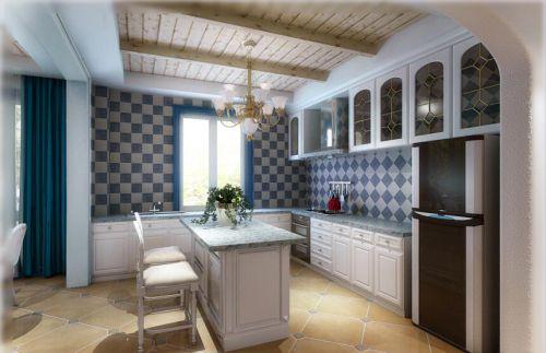 最新地中海风格别墅厨房装修设计效果图