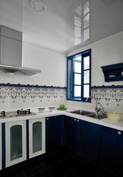 美式地中海风格厨房整体橱柜设计