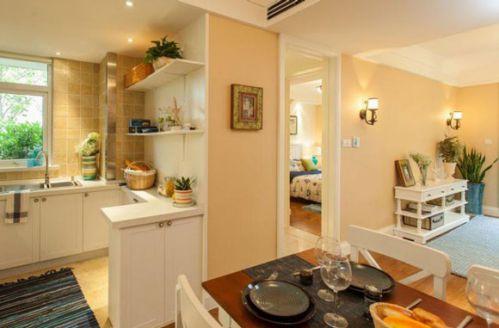 清新地中海风格两居室厨房整体橱柜设计