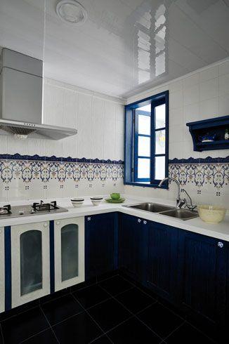 纯美自然住宅厨房背景墙图片