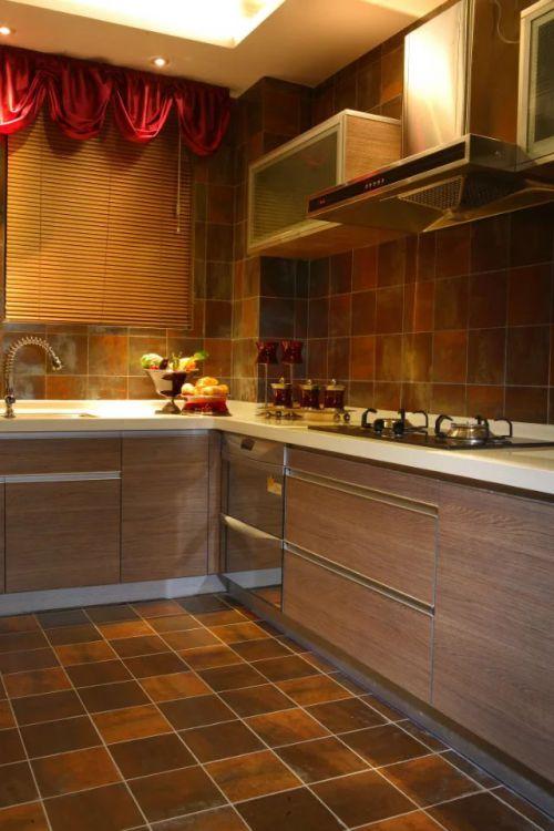 东南亚风格厨房橱柜设计效果图
