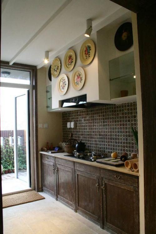 复古东南亚风格厨房整体橱柜装修