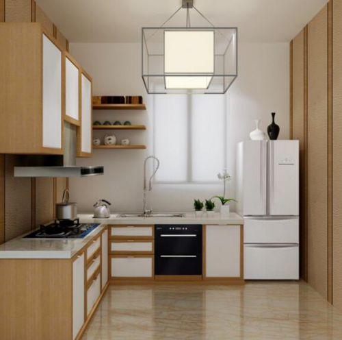 日式现代家庭三居室装修厨房效果图