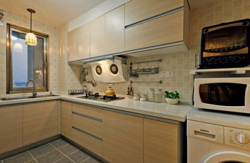 日式loft风格原木厨房设计