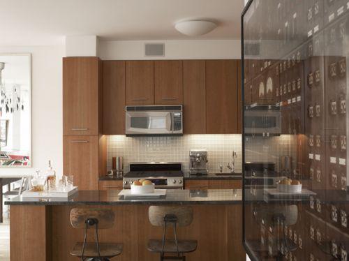 混搭潮流厨房吧台设计图片