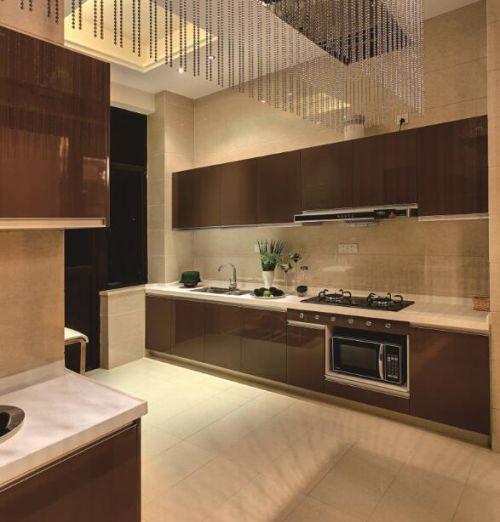 新古典复式风厨房整体橱柜设计