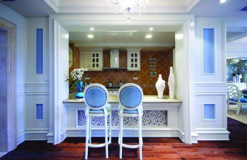 浪漫法式新古典风格厨房吧台设计