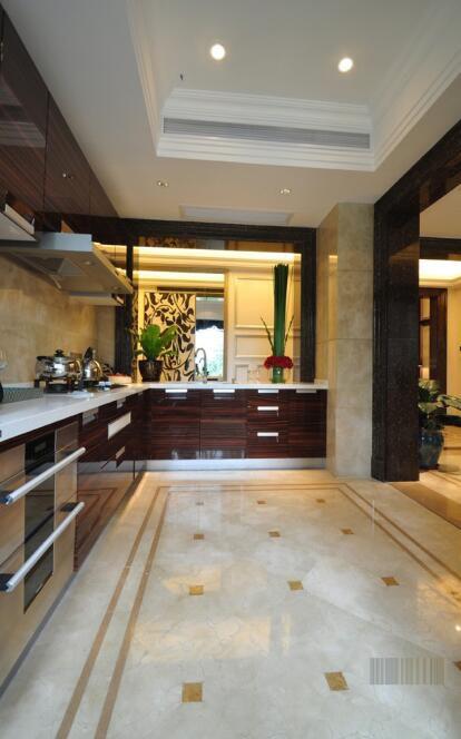 欧式新古典风格厨房瓷砖效果图