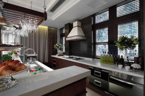央筑花园新古典别墅开放式厨房装修图片