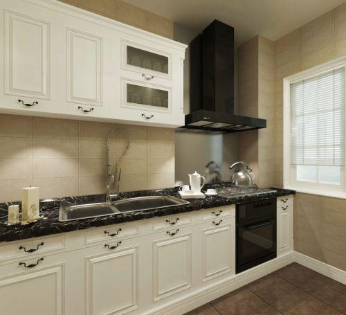 107平米新古典风格厨房整体橱柜效果图