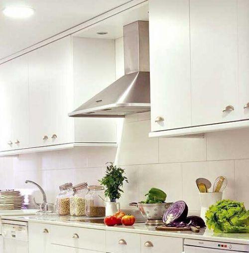 混搭风情厨房整体橱柜装修效果图