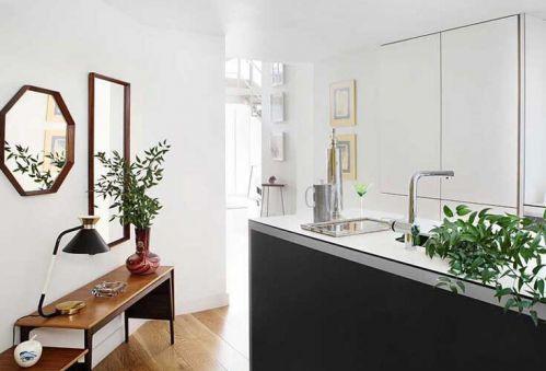 混搭风情厨房背景墙装修图片