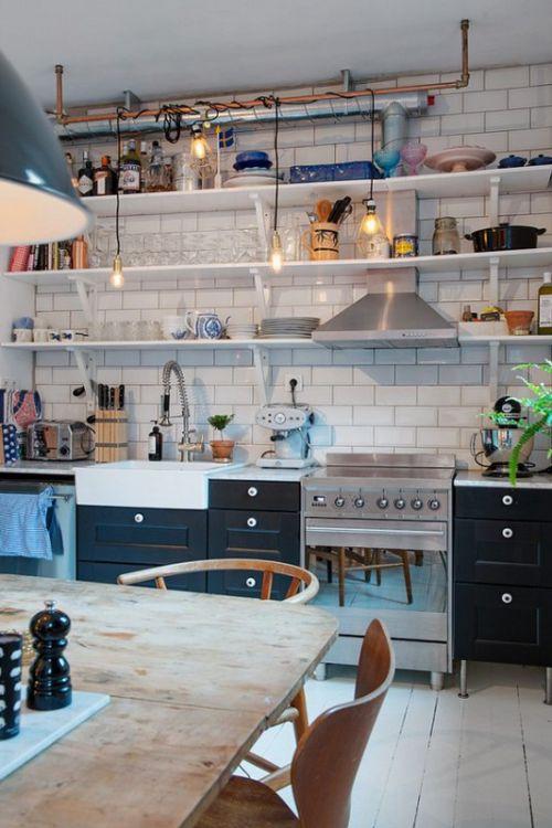 40平米混搭风格厨房装修效果图