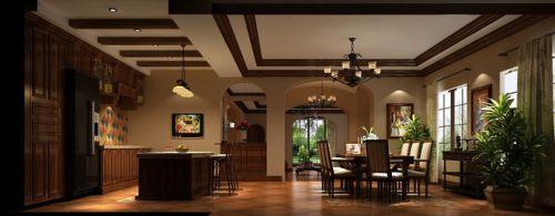 600平米古典混搭别墅厨房吊顶设计