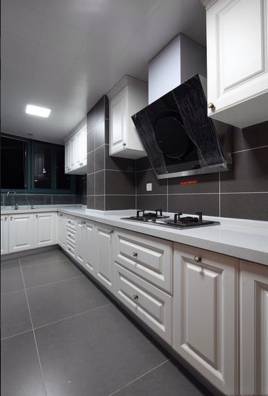 135平米时尚混搭风格厨房背景墙设计