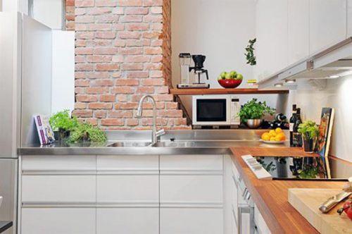 65平米混搭风格公寓厨房装修效果图