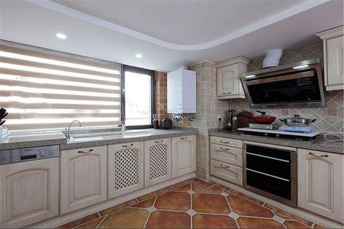混搭别墅厨房整体橱柜图片