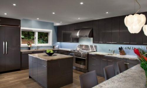混搭风格开放式厨房装修设计